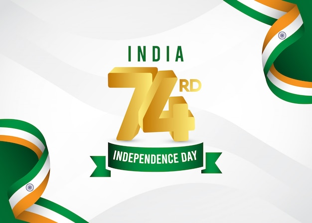 Happy india independence day i celebration day republic.