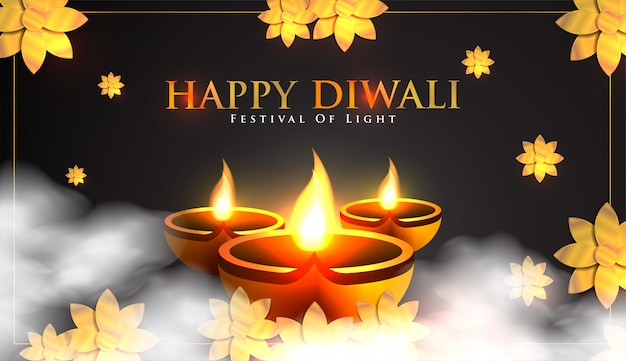 Happy indian diwali celebration background