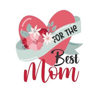 Happy mothers day napis kartki z życzeniami z kwiatami najlepsza mama kiedykolwiek
