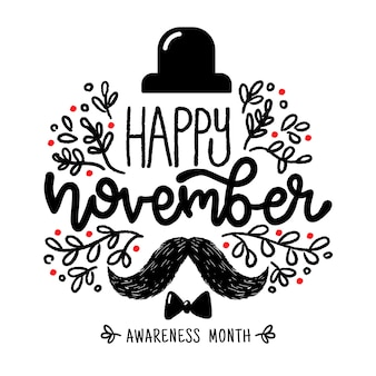 Happy movember napis tło
