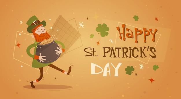 Happy patrick day festival piwo wakacje plakat fest