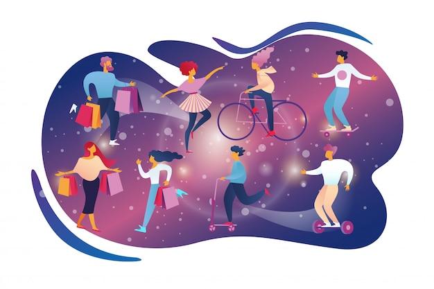 Happy people hobby leisure activity styl życia