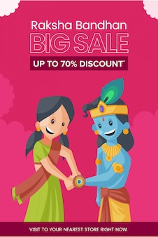 Happy raksha bandhan big sale banner