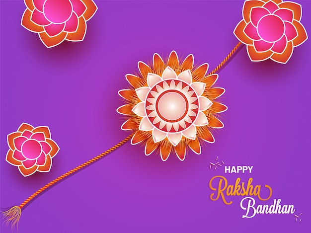 Happy raksha bandhan projekt karty z pozdrowieniami.