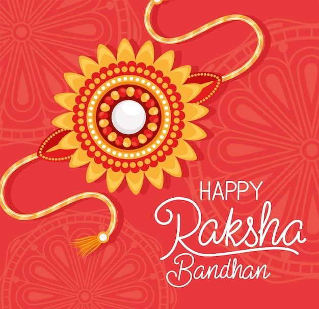 Happy raksha bandhan z pomarańczową opaską
