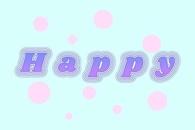 Happy retro czcionki z kropkami