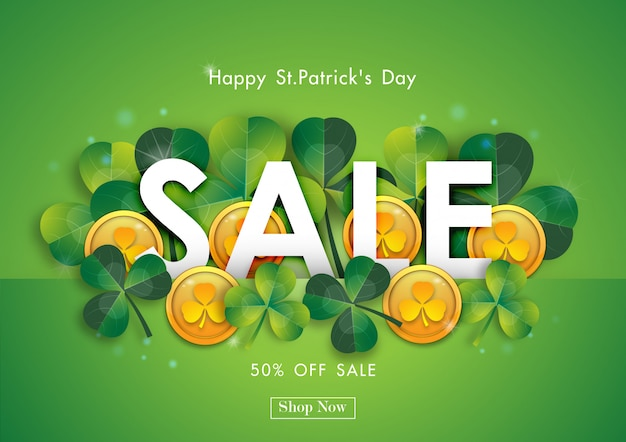 Happy st patrick's day sale off background