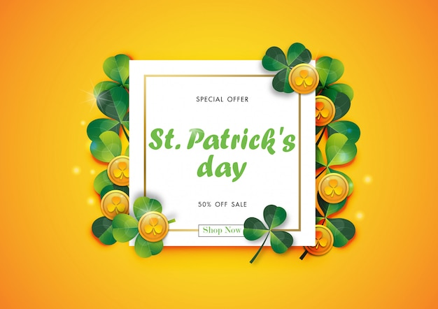 Happy st patrick's day sale off background