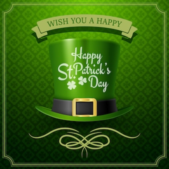 Happy st. patrick's day typografia