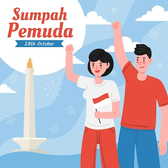 Happy sumpah pemuda happy people