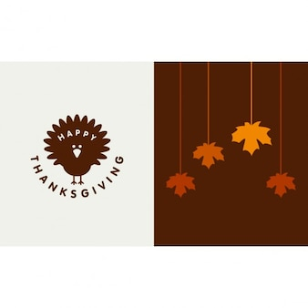 Happy thanksgiving day plakatu typograficznego