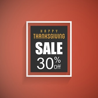Happy thanksgiving day sale poster