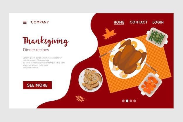 Happy thanksgiving wakacje wektor szablon projektu dla stron internetowych plakaty banery