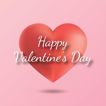 Happy valentine kaligrafii z sercem