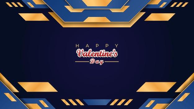 Happy valentine's day banner i projekt dekoracji tła