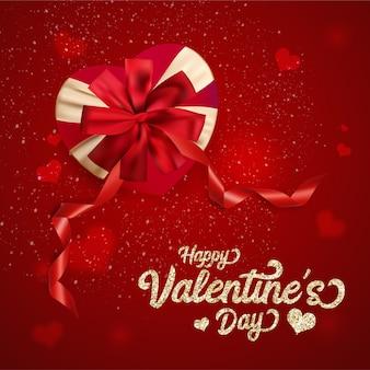Happy valentine's day heart background.
