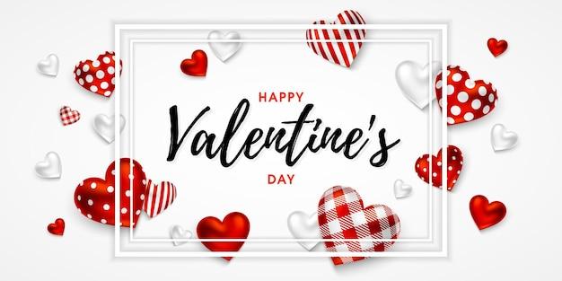 Happy valentine's day pozdrowienie transparent