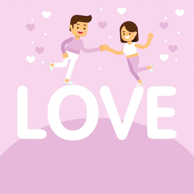 Happy valentine's day z pięknym para celebration