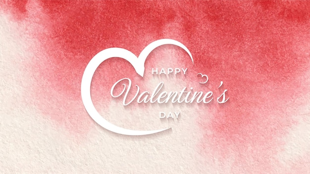 Happy valentines day akwarela nowoczesny elegancki wzór tła