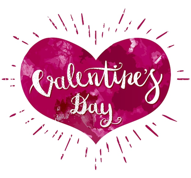 Happy valentines day hand drawing pen brush napis