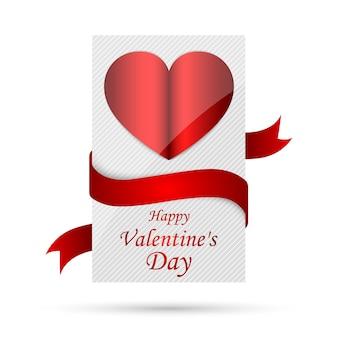 Happy valentines day, kartkę z życzeniami na białym tle