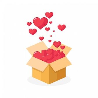 Happy valentines day love jest w powietrzu
