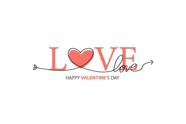 Happy valentines day napis na białym tle