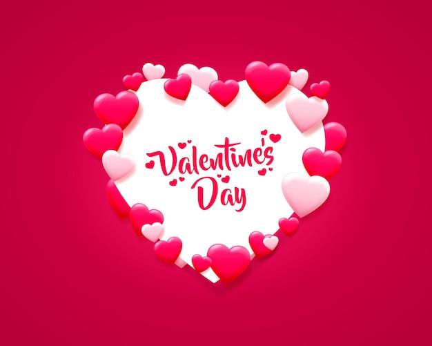 Happy valentines day pozdrowienie projekt ilustracji
