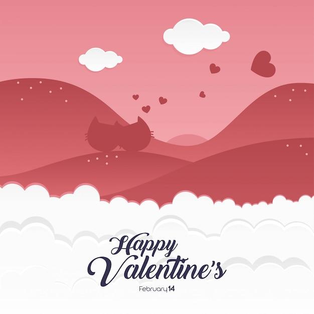 Happy valentines day silhouette