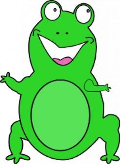 Happy żaba