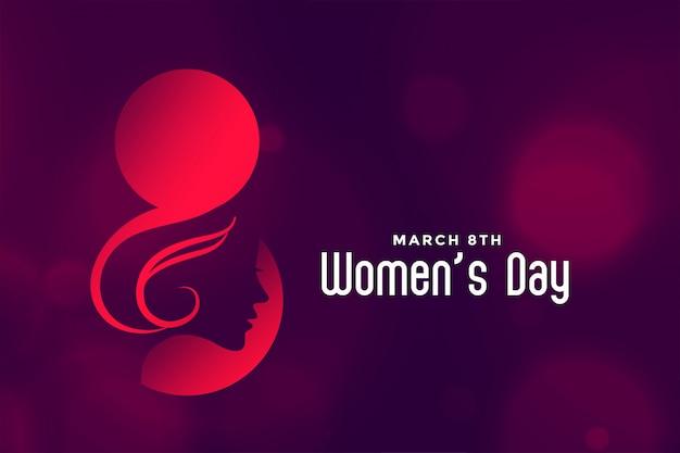 Hapy międzynarodowy dzień kobiet piękne tło