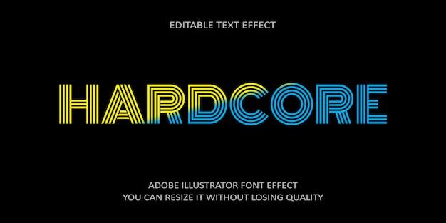 Hardcore edytowalny tekst efekt