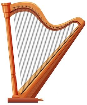 Harfa z drewna