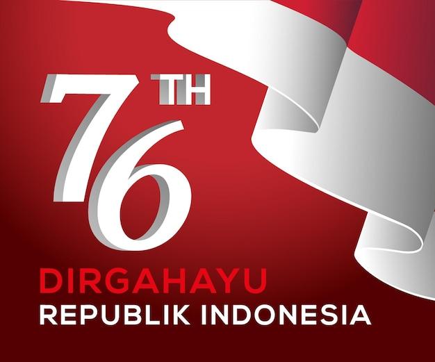 Hari kemerdekaan indonezja ke 76 dzień niepodległości indonezji