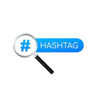 Hashtag, znak komunikacji. abstrakcjonistyczna ilustracja dla twój projekta na bielu
