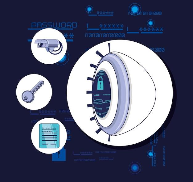 Hasło bezpieczeństwa dostęp wektor ilustracja projektu