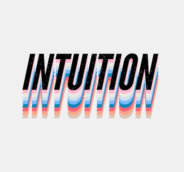 Hasło intuicja fraza graficzny wektor drukuj moda napis kaligrafia