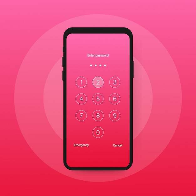 Hasło uwierzytelniania blokady ekranu smartfona