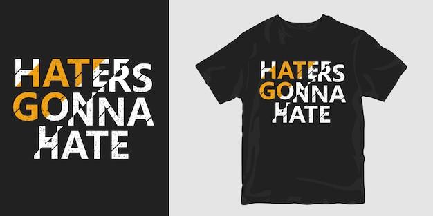 Hatters nienawidzi koszulki typograficznej