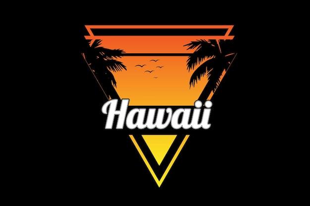 Hawaje kolor żółty i pomarańczowy