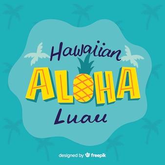 Hawajski luau napis tło