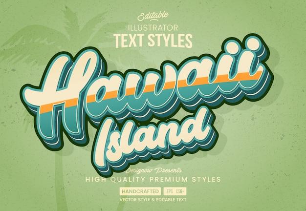 Hawajski styl vintage tekstu