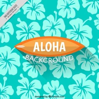 Hawajskie kwiaty w tle