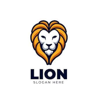 Head lion kreatywne wild logo elegancka ilustracja i