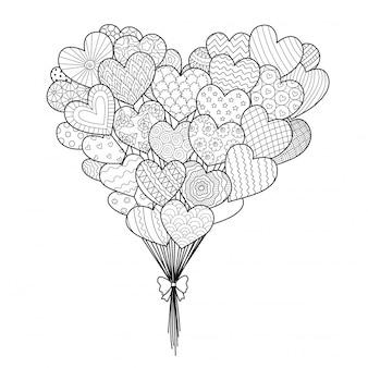 Hearted balony