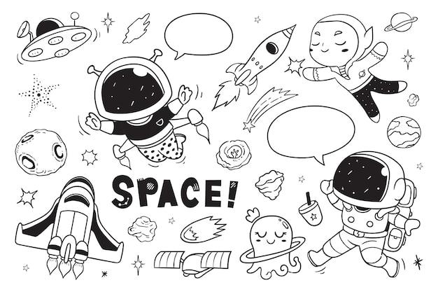 Hej kosmiczny doodle