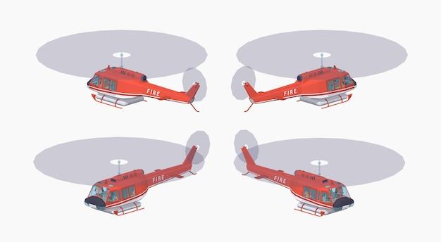 Helikopter przeciwpożarowy low poly
