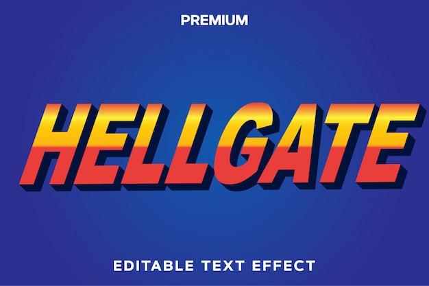 Hellgate - tytuł gry styl efekt tekstowy premium