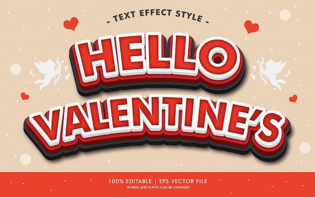 Hello valentine's text efekty styl