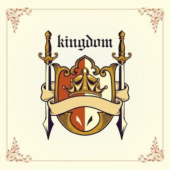 Herb królestwa wstążką